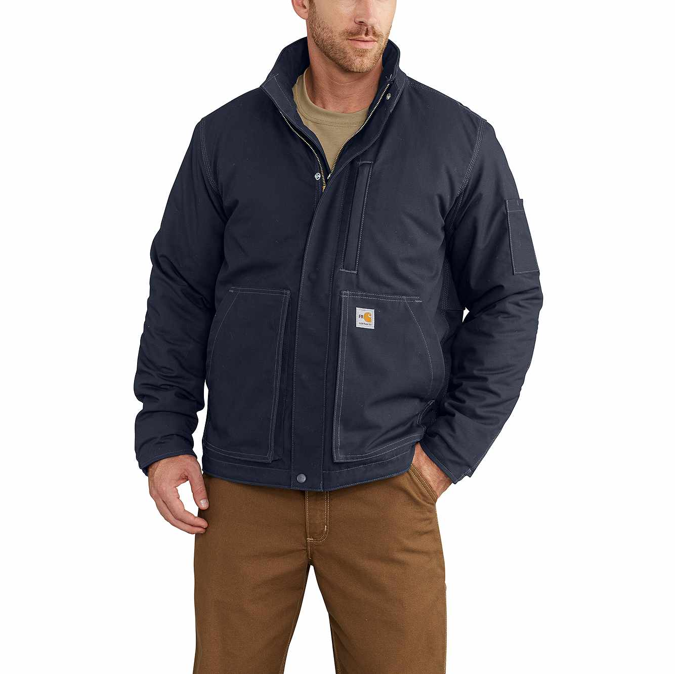 Picture of Full Swing® Quick Duck® Flame-Resistant Lanyard Access Jacket in Dark Navy