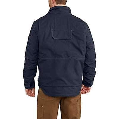 Carhartt Men's Dark Navy Full Swing® Quick Duck® Flame-Resistant Lanyard Access Jacket - back
