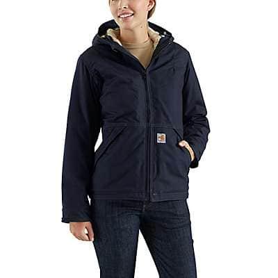 Carhartt Women's Dark Navy Flame-Resistant Full Swing® Quick Duck® Jacket/Sherpa-Lined