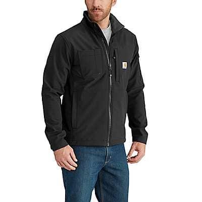 Carhartt Men's Black Rain Defender® Relaxed Fit Midweight Softshell Jacket