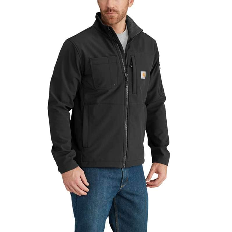 Carhartt  Black Rain Defender® Relaxed Fit Midweight Softshell Jacket