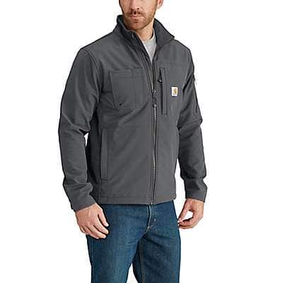 Carhartt Men's Charcoal Rain Defender® Relaxed Fit Midweight Softshell Jacket