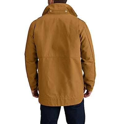 Carhartt Men's Carhartt Brown Full Swing® Chore Coat - back