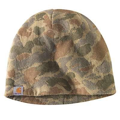 Carhartt Men's Burnt Olive Camo Montgomery Reversible Hat - back
