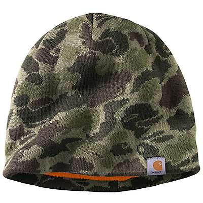 Carhartt  Burnt Olive Camo Montgomery Reversible Hat - front