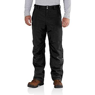Carhartt Men's Black Insulated Shoreline Pant - front