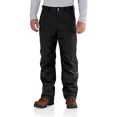 Carhartt Men's Black Insulated Shoreline Pant - front