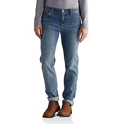 Carhartt Women's Stonewash Tomboy Fit Benson Jean - front
