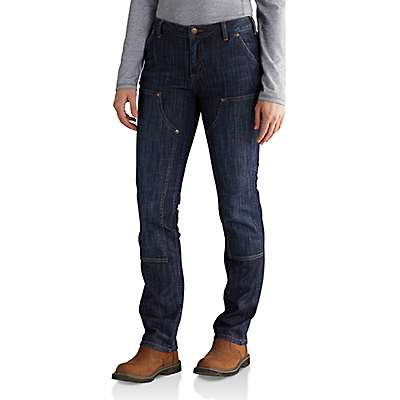 Carhartt  Indigo Stream Slim-Fit Layton Double-Front Straight Leg Jean - front