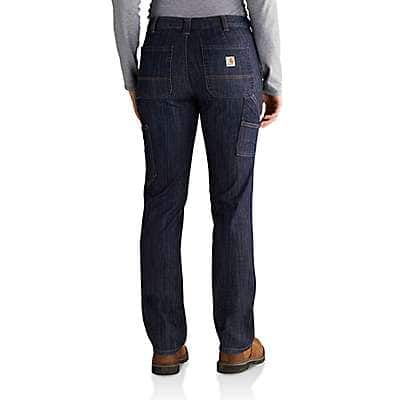 Carhartt  Indigo Stream Slim-Fit Layton Double-Front Straight Leg Jean - back