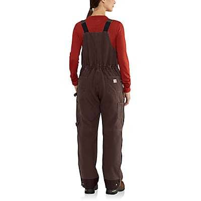 Carhartt Women's Dark Brown Weathered Duck Wildwood Bib Overall - back