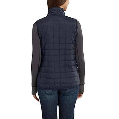 Carhartt Women's Dark Slate Amoret Reversible Flannel-Lined Vest - back