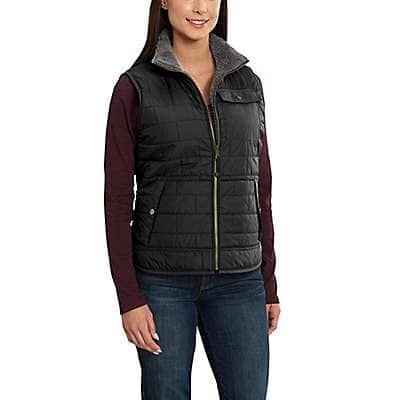 Carhartt  Deep Wine Amoret Reversible Sherpa-Lined Vest - back