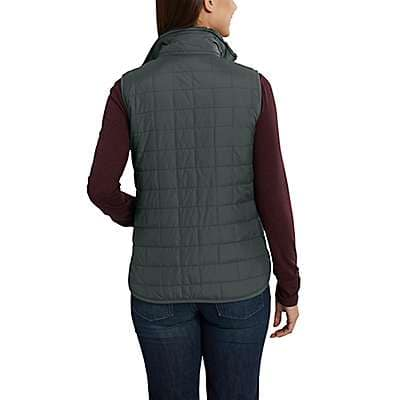 Carhartt Women's Deep Wine Amoret Reversible Sherpa-Lined Vest - back