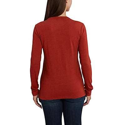 Carhartt Women's Carbon Heather Lockhart Long-Sleeve Crewneck T-Shirt - back