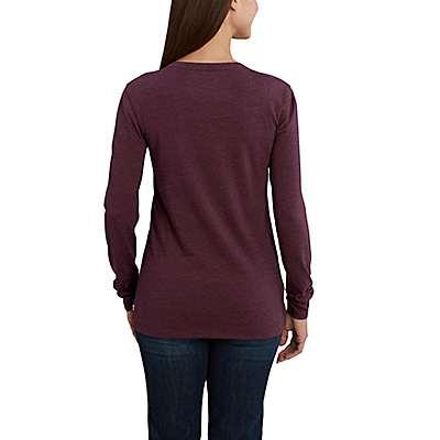 Carhartt Women's White Lockhart Long Sleeve V-Neck T-Shirt - back
