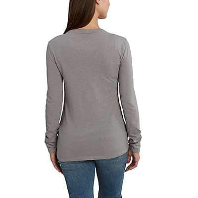 "Carhartt Women's Heather Gray Lockhart Graphic  ""Built by Hand"" Long Sleeve T-Shirt - back"