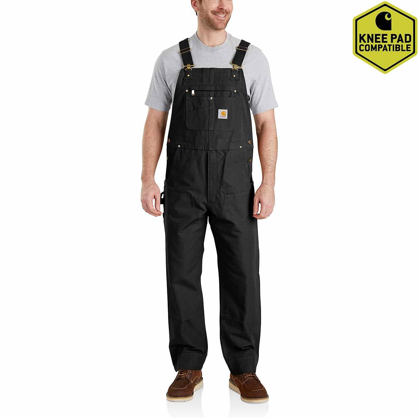 Picture of Duck Bib Overalls in Black