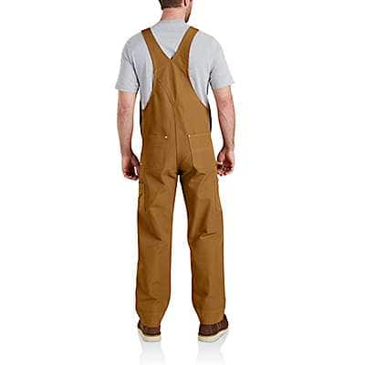 Carhartt  Carhartt Brown Duck Bib Overalls - back