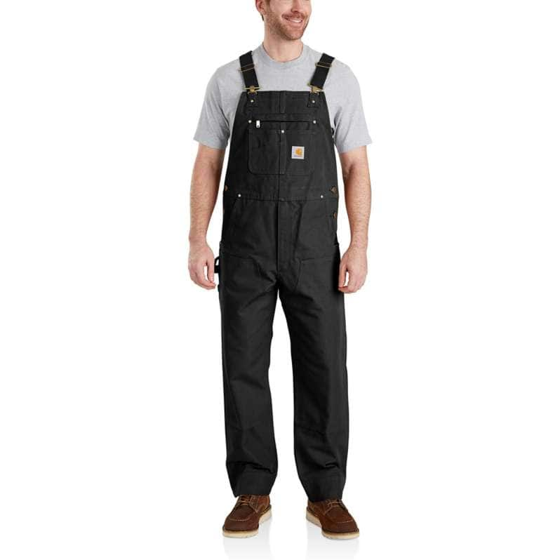 Carhartt  Black Relaxed Fit Duck Bib Overall
