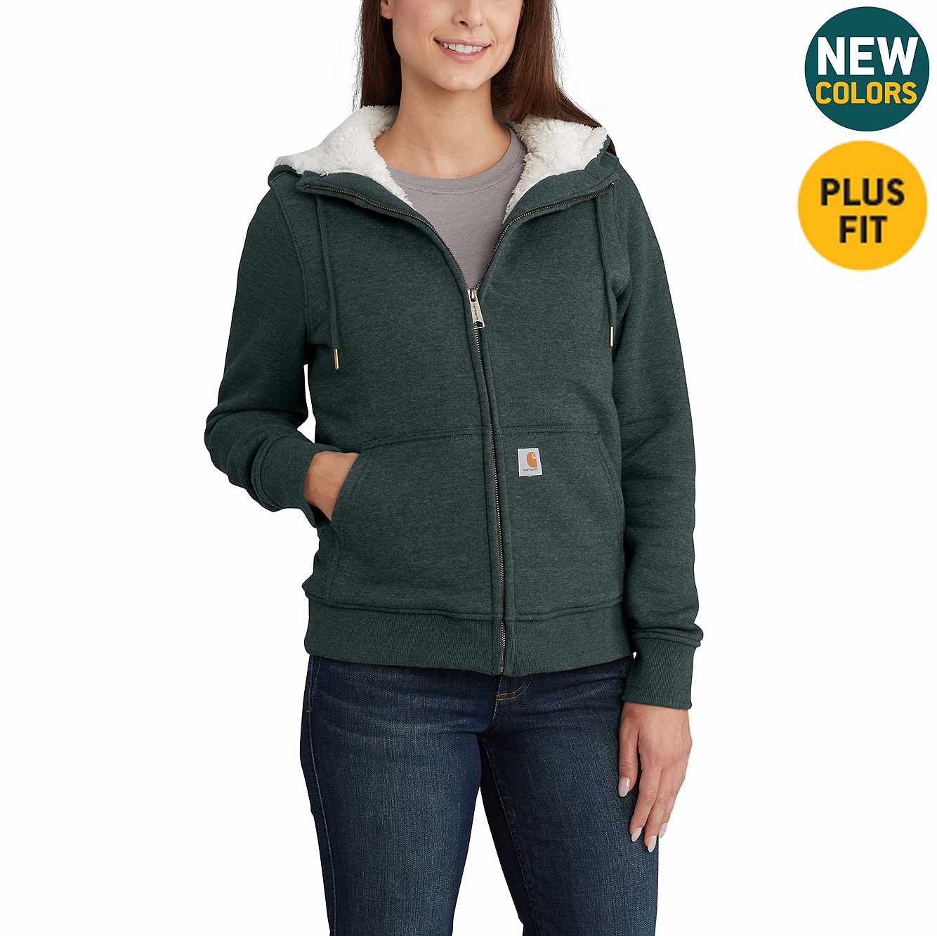 Picture of Clarksburg Sherpa-Lined Hoodie in Fog Green Heather