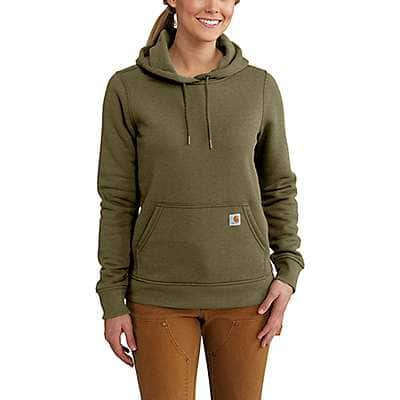 Carhartt Women's Fudge Heather Clarksburg Pullover Sweatshirt - front