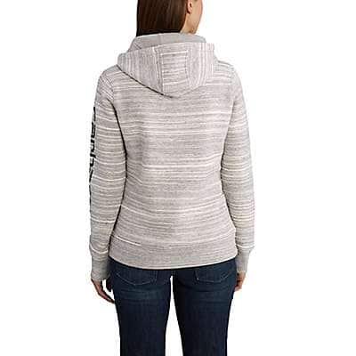 Carhartt Women's Rose Smoke Heather Clarksburg Graphic Sleeve Pullover Sweatshirt - back
