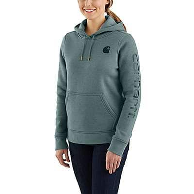 Carhartt Women's Black Clarksburg Graphic Sleeve Pullover Sweatshirt - back