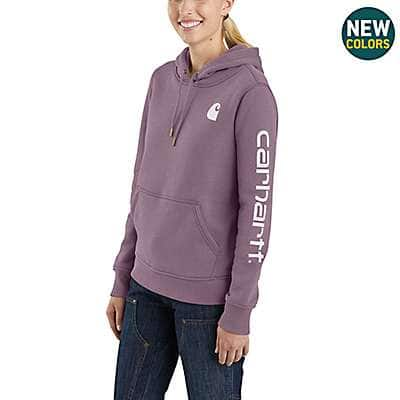 Carhartt Women's Fudge Heather Clarksburg Graphic Sleeve Pullover Sweatshirt - front