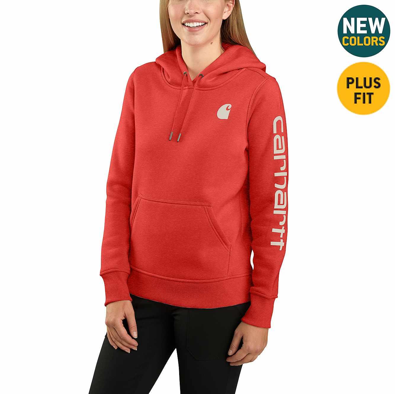 Picture of Clarksburg Graphic Sleeve Pullover Sweatshirt in Ruby Heather