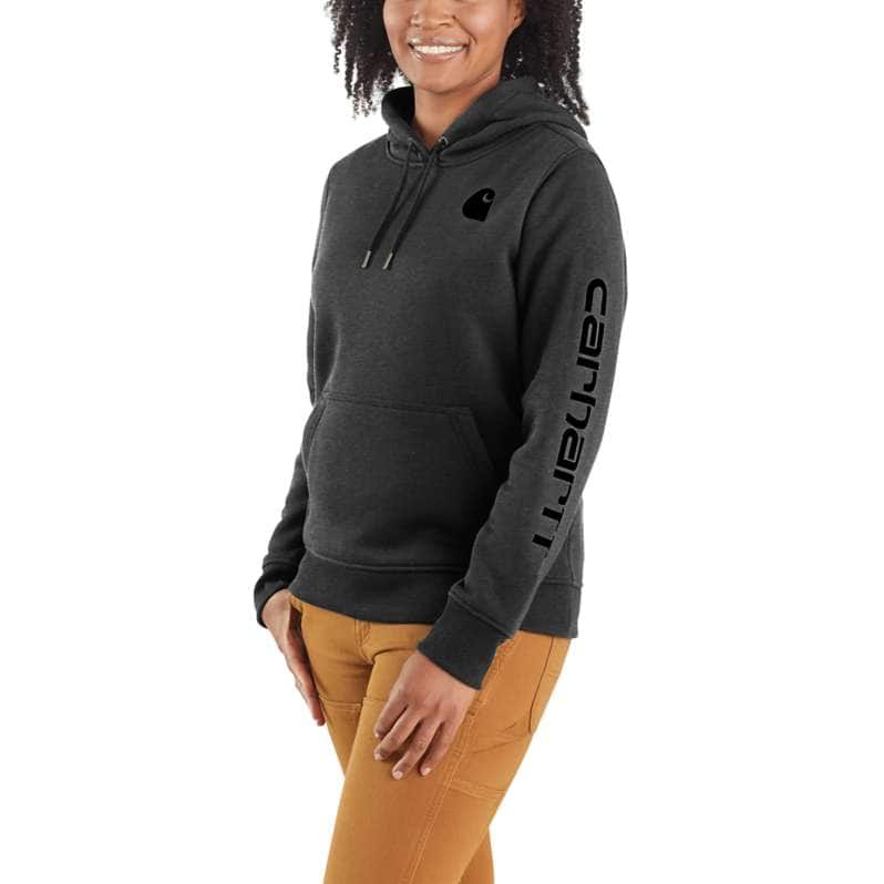 Carhartt  Carbon Heather Relaxed Fit Midweight Logo Sleeve Graphic Sweatshirt