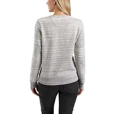 Carhartt Women's Shadow Space Dye Clarksburg Henley Sweatshirt - back