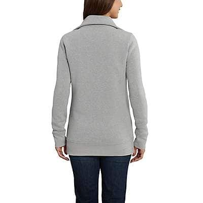 Carhartt Women's Asphalt Heather Clarksburg Zip Front Tunic Sweatshirt - back