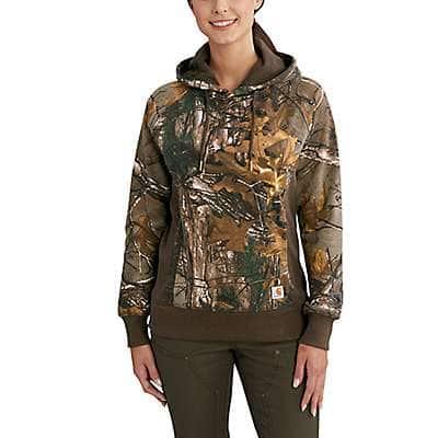 Carhartt Women's Realtree Xtra Avondale Camo Pullover Sweatshirt - front