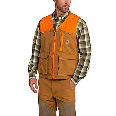 Carhartt Men's Carhartt Brown Upland Field Vest - front