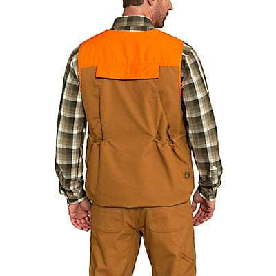 Carhartt Men's Carhartt Brown Upland Field Vest - back