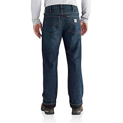 Carhartt Men's Blue Ridge Relaxed Fit Holter Fleece Lined Jean - back
