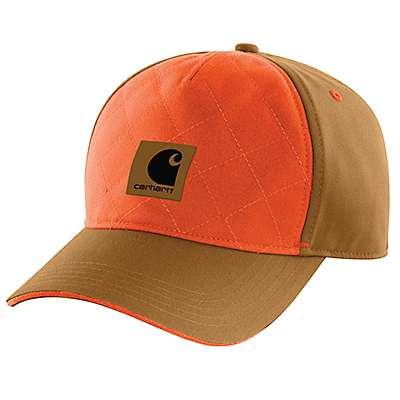 Carhartt Men's Carhartt Brown Upland Quilted Cap - front