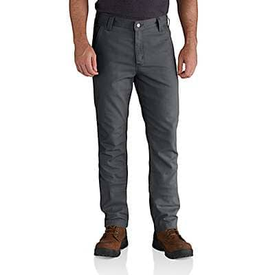 Carhartt Men's Dark Khaki Rugged Flex® Rigby Straight Fit Pant - front