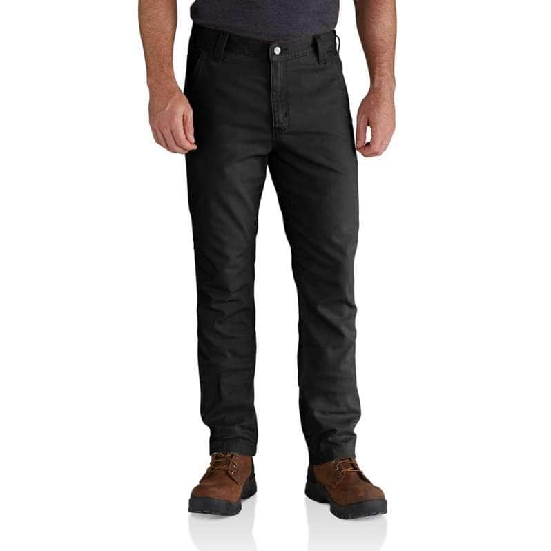 Carhartt  Black Rugged Flex® Straight Fit Canvas 5-Pocket Tapered Work Pant
