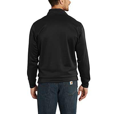 Carhartt Men's Granite Heather Force Extremes® Mock Neck Half Zip Sweatshirt - back