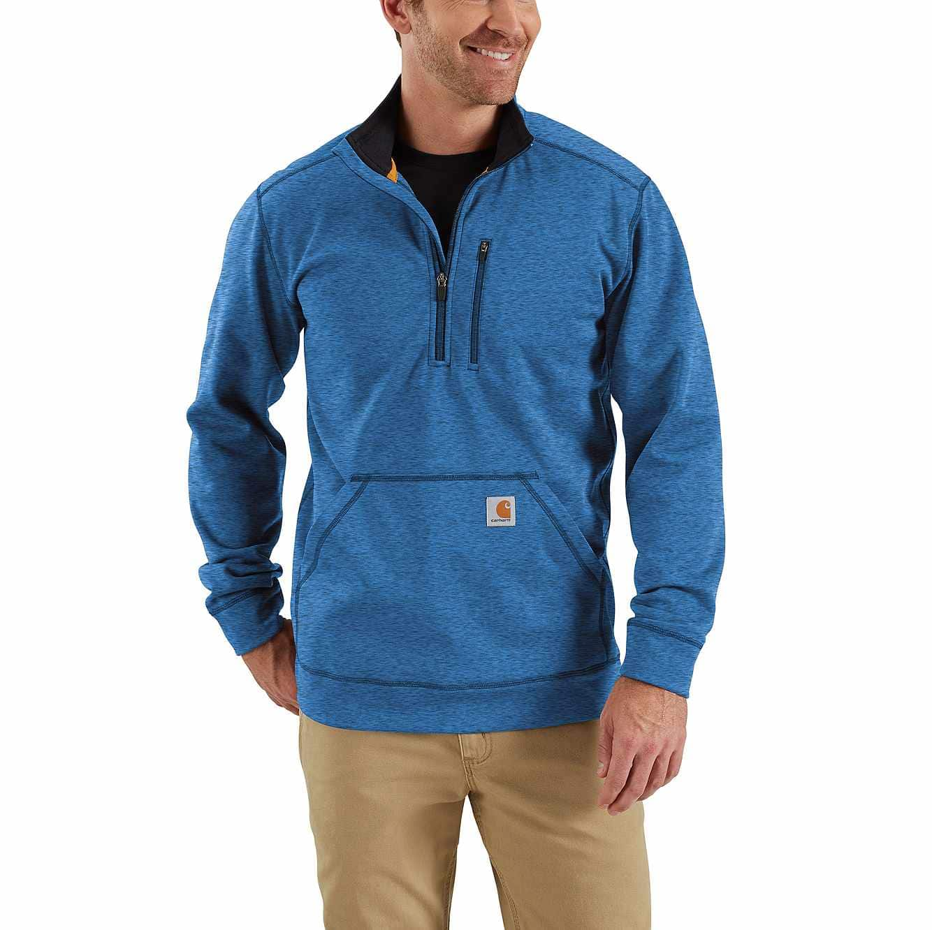 Picture of Force Extremes® Mock Neck Half Zip Sweatshirt in Huron Heather