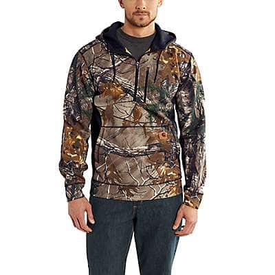 Carhartt Men's Realtree Xtra Force Extremes™ Mock-Neck Half-Zip Hooded Sweatshirt - front