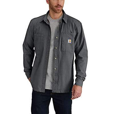 Carhartt Men's Shadow Rugged Flex® Rigby Shirt Jac/Fleece-Lined - front