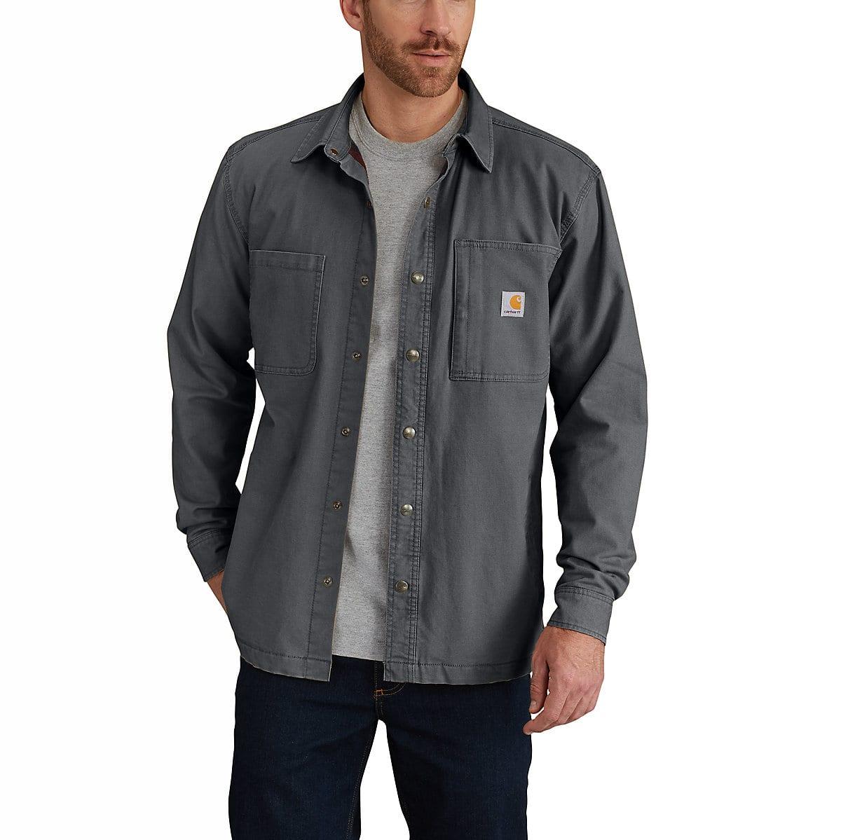 Men S Rugged Flex 174 Rigby Shirt Jac Fleece Lined 102851