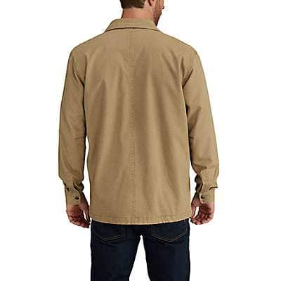Carhartt Men's Shadow Rugged Flex® Rigby Shirt Jac/Fleece-Lined - back