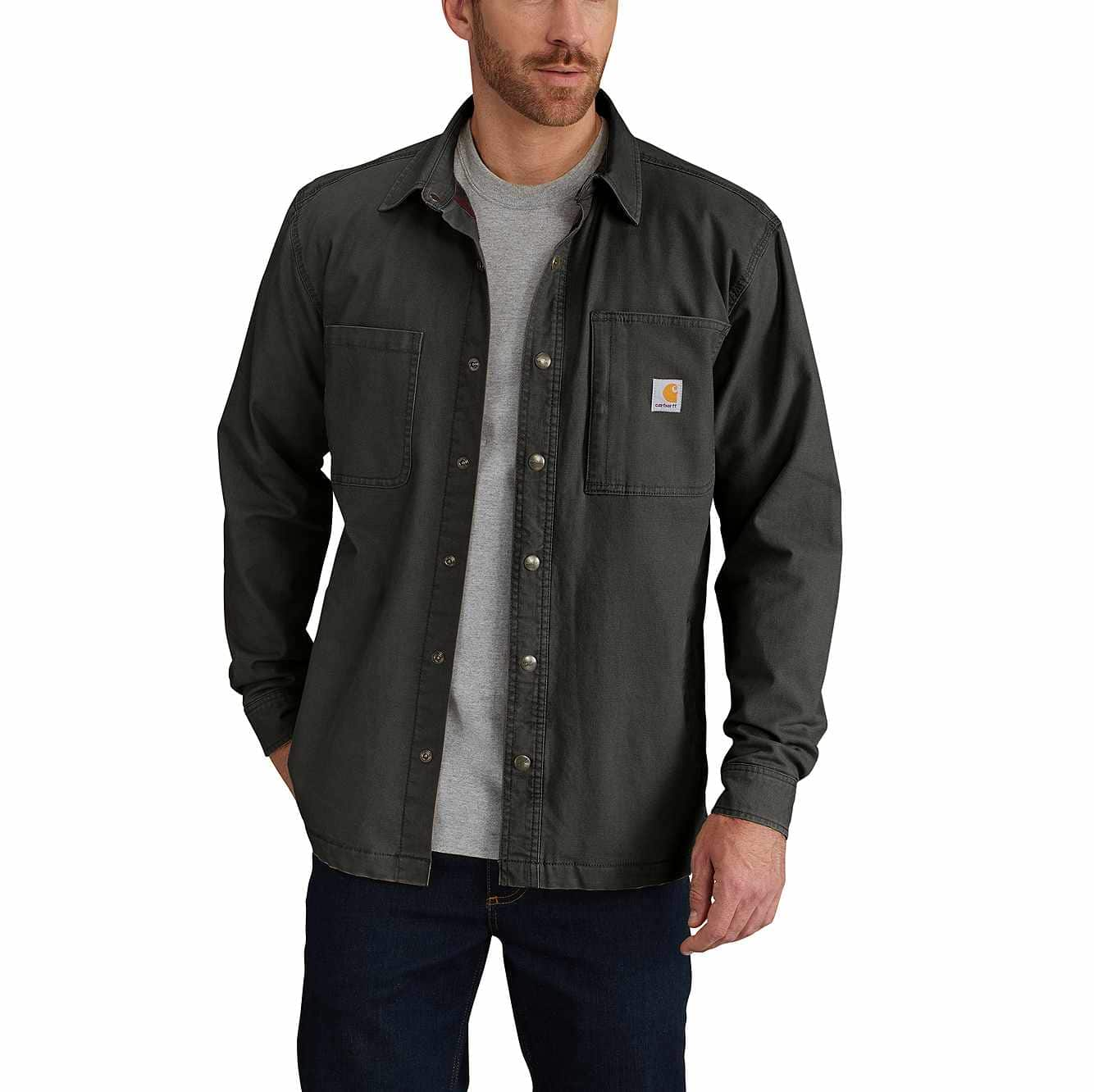 Picture of Rugged Flex® Rigby Shirt Jac/Fleece-Lined in Peat