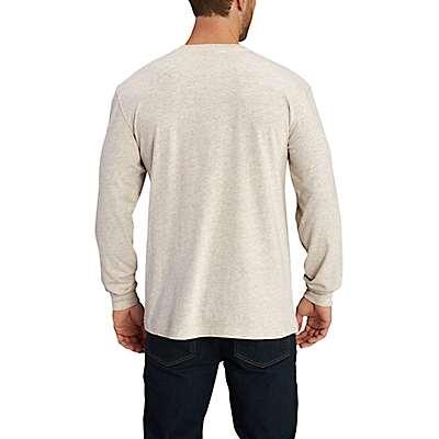 Carhartt Men's Carbon Heather Maddock Graphic Handmade Long-Sleeve T-Shirt - back