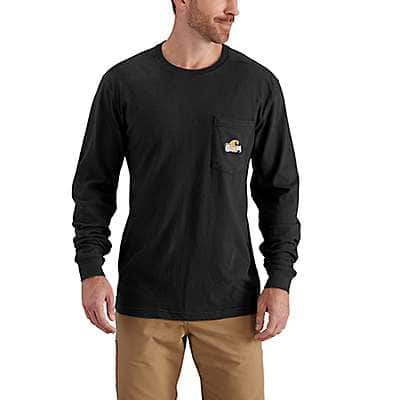 Carhartt Men's Black Maddock Graphic Woodsman Long-Sleeve T-Shirt - front
