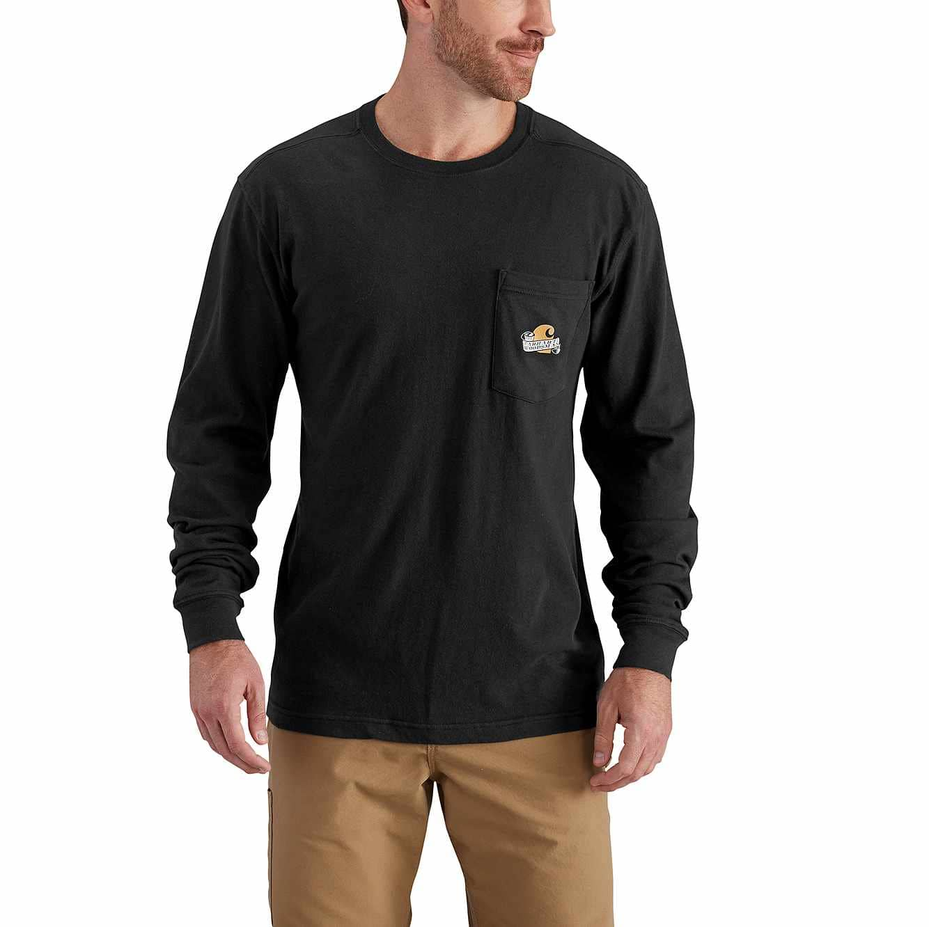 Picture of Maddock Graphic Woodsman Long-Sleeve T-Shirt in Black